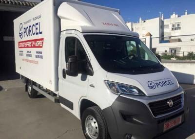Camión 3 Transportes y Mudanzas Porcel en Lucena
