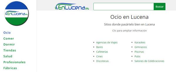 Subcategorías EnLucena.es