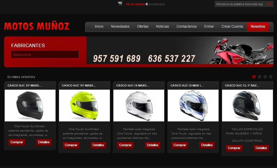 Tienda Online Motos Muñoz en Lucena